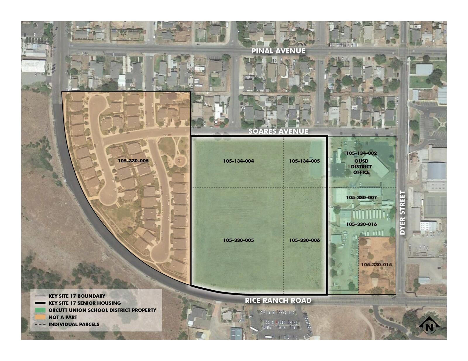 Key Site 17 Senior Housing Parcel Map